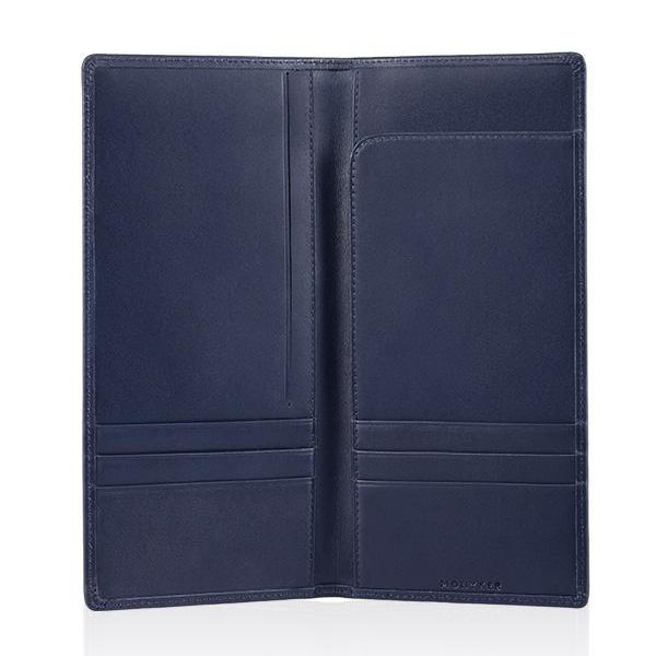 MONYKER Leather Executive Wallet NAVY:  Interior