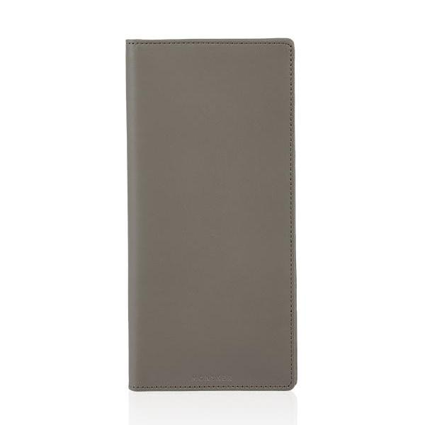 MONYKER Leather Executive Wallet TAUPE