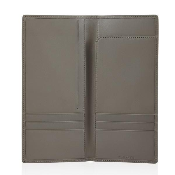 MONYKER Leather Executive Wallet TAUPE:  Interior