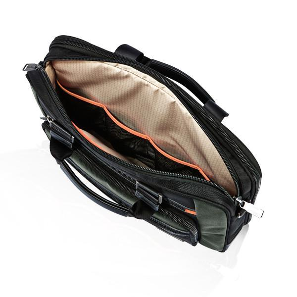 MONYKER black ballistic nylon laptop bag main compartment interior