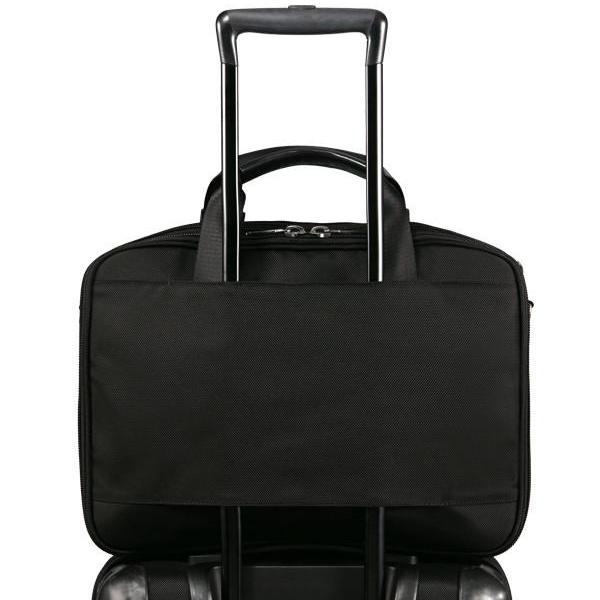 MONYKER black ballistic nylon laptop bag with luggage handle slot
