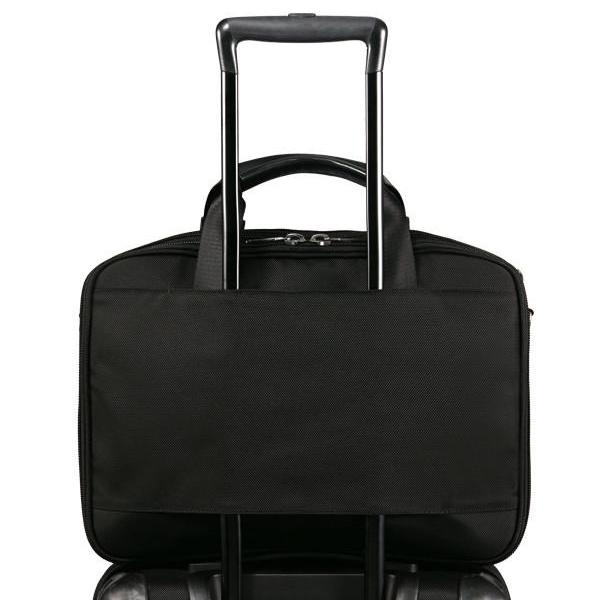 MONYKER laptop bag with luggage handle slot