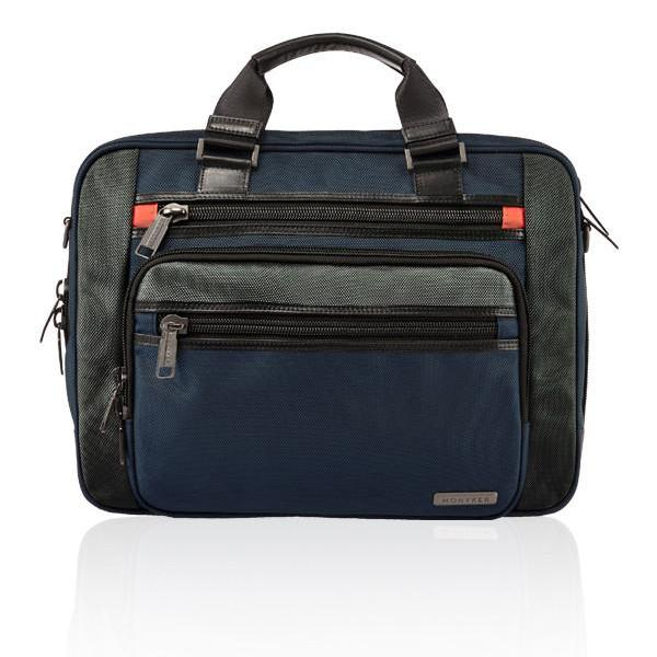 MONYKER navy ballistic nylon laptop bag