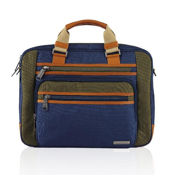 MONYKER blue casual nylon laptop bag