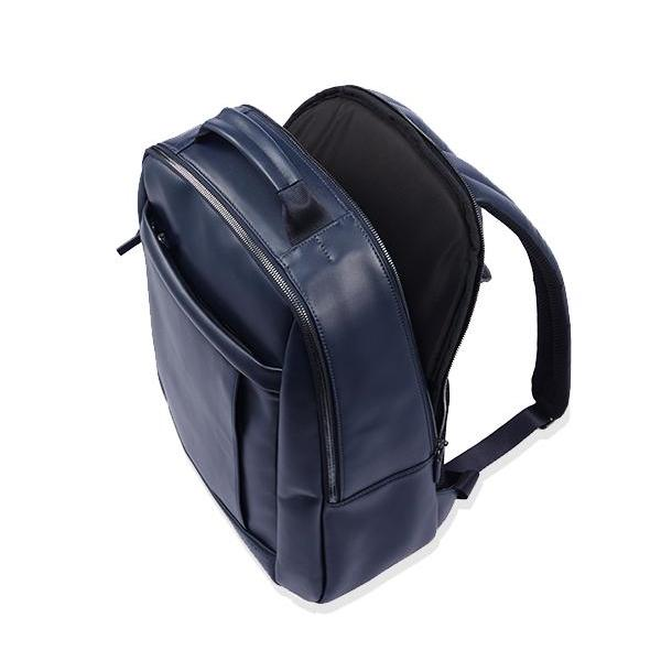 MONYKER William Leather Backpack:  Laptop Compartment