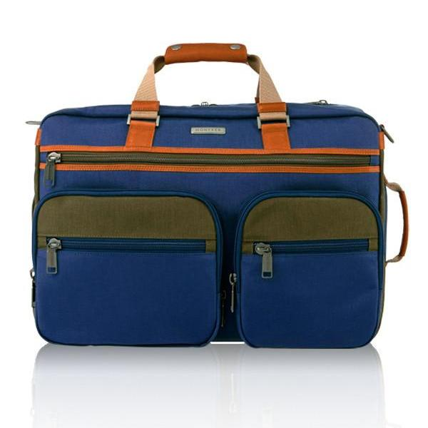 MONYKER blue casual nylon 3-in-1 travel bag