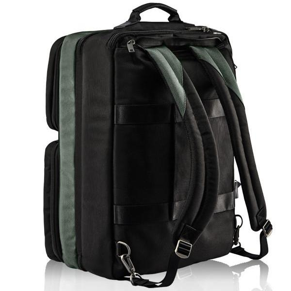 MONYKER black ballistic nylon 3-in-1 travel bag converts into backpack