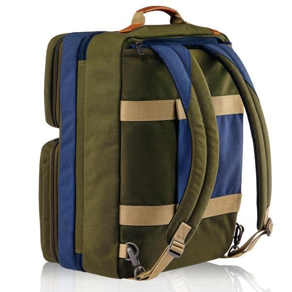 MONYKER olive casual nylon 3-in-1 travel bag converts into backpack