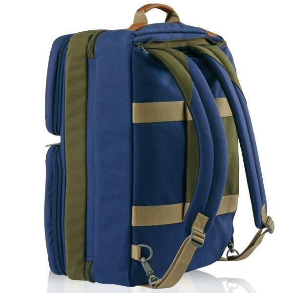 MONYKER blue casual nylon 3-in-1 travel bag converts into backpack