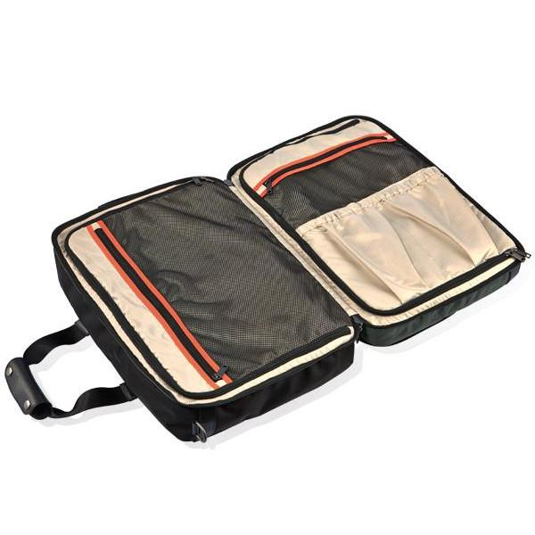 MONYKER black ballistic nylon 3-in-1 travel bag interior