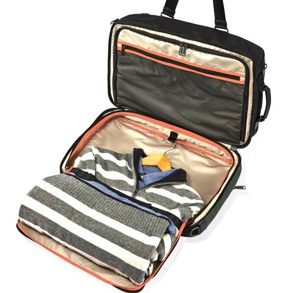 MONYKER black ballistic nylon 3-in-1 travel bag with suit compartment