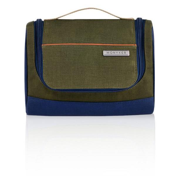 MONYKER olive casual nylon toiletry kit