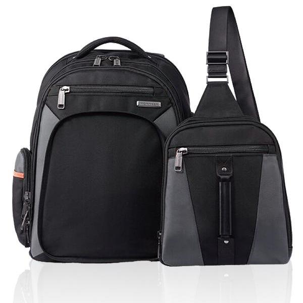 MONYKER Carryall Backpack Ballistic Nylon Black: 2-bags-in-1