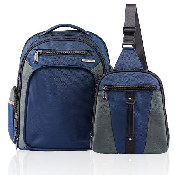 MONYKER Carryall Backpack Ballistic Nylon Navy:  2-bags-in-1