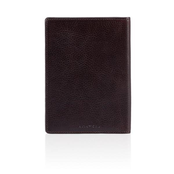 MONYKER Leather Passport Sleeve BROWN