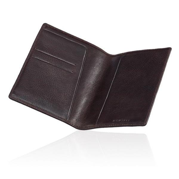 MONYKER Leather Passport Sleeve BROWN: Interior