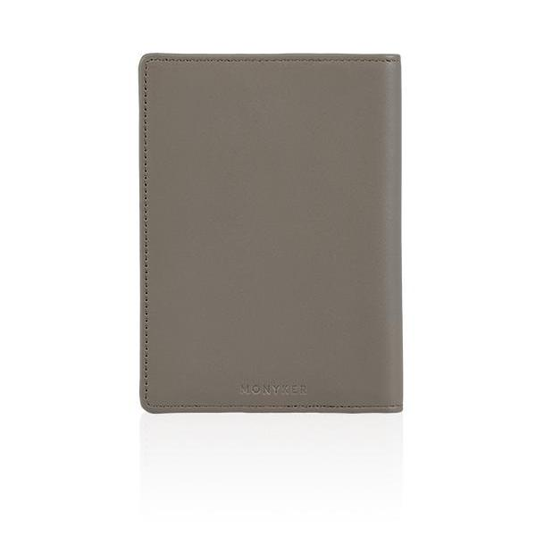 MONYKER Leather Passport Sleeve TAUPE