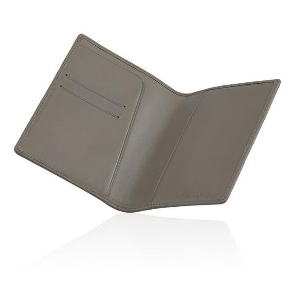 MONYKER Leather Passport Sleeve TAUPE:  Interior