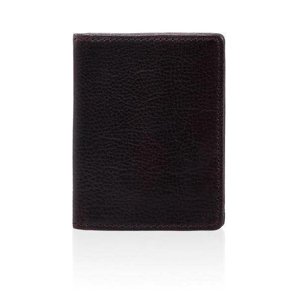 MONYKER Leather Slim Card Wallet BROWN