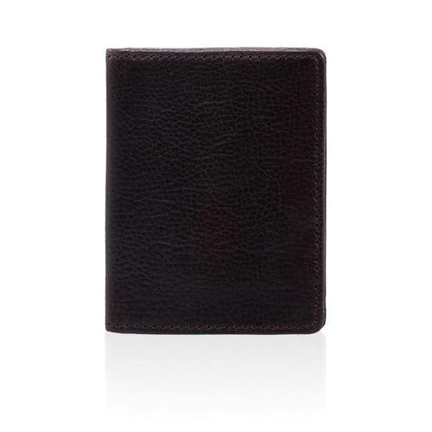 LEATHER BIFOLD WALLET - NAVY