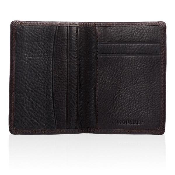 MONYKER Leather Slim Card Wallet BROWN:  Interior