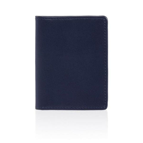 LEATHER MULTI-CARD AND COIN CASE - NAVY
