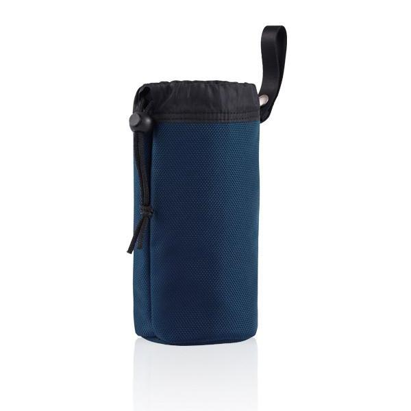 MONYKER navy ballistic nylon snap-on bottle holder