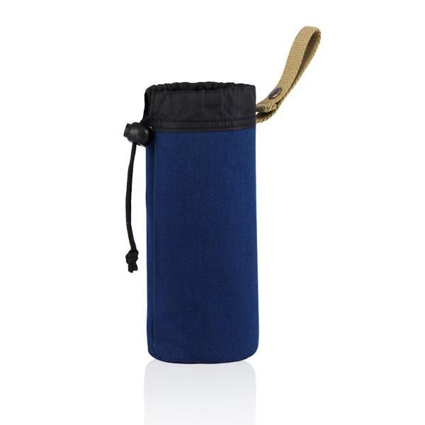 MONYKER blue casual nylon snap-on bottle holder