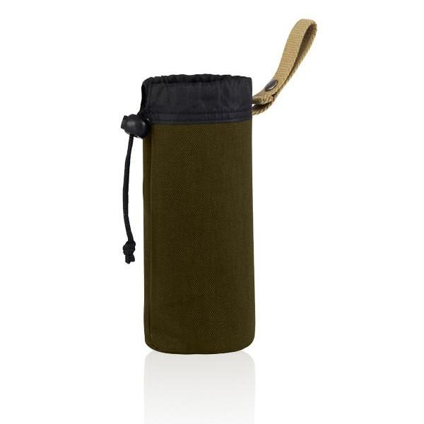 MONYKER olive casual nylon snap-on bottle holder