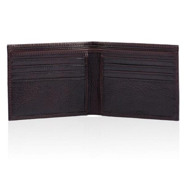 MONYKER Leather Wallet BROWN:  Interior