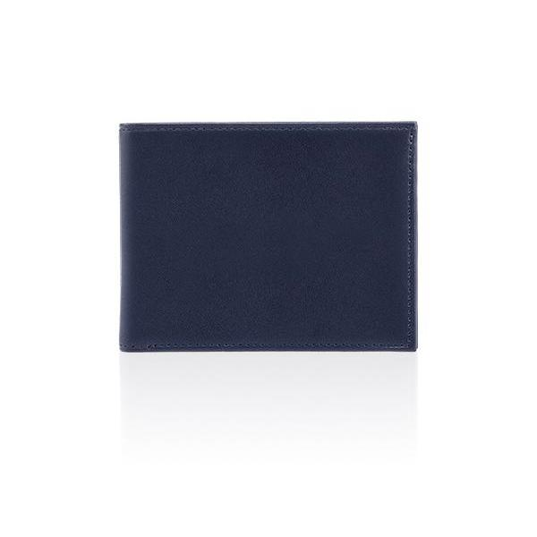 MONYKER Leather Wallet NAVY