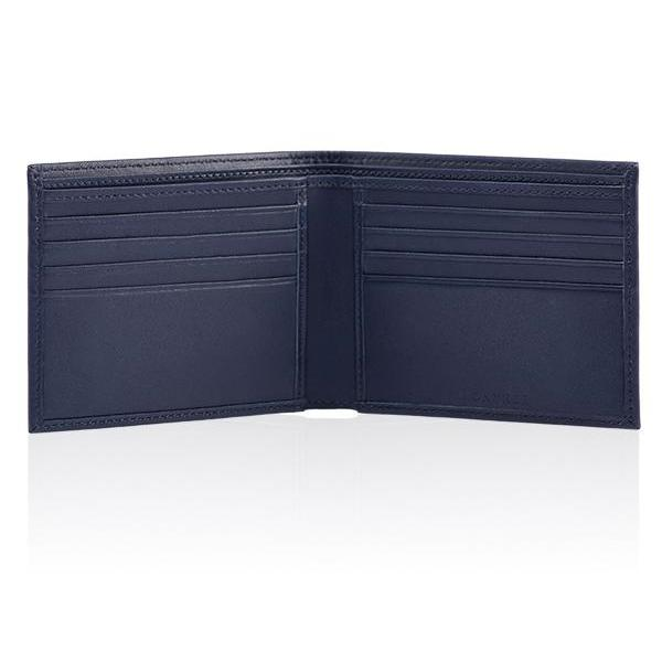 MONYKER Leather Wallet NAVY:  Interior