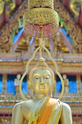 Buddha statue at Buddhist temple in Thailand.