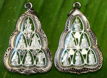 Six Buddhas Premium Amulet - White or Gold