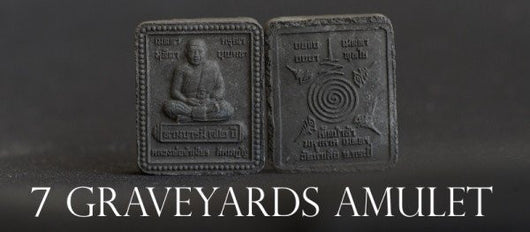Ajahn Jumnien Black Magic 7 Graveyards Amulet