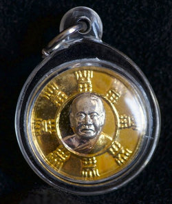 Ajahn Jumnien Gold-Silver Good Luck Thai Waterproof Amulet
