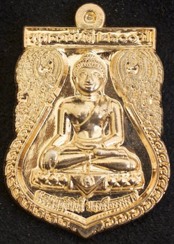 Premium Gold Buddha Shield Amulet
