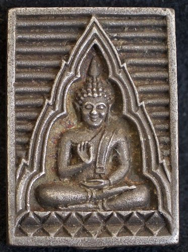 Small Stainless Steel Ornate Buddha Charm
