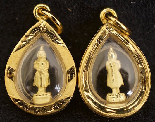 Small Gold Sunday Birthday Buddha Amulet