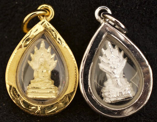 Small Gold or Silver Saturday Birthday Buddha Amulet