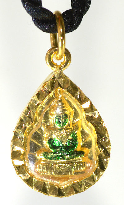 Emerald Buddha in Unblossomed Lotus with Radiance