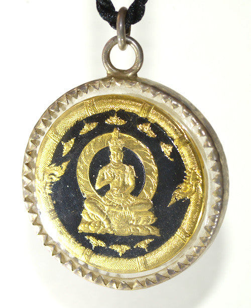 Rare Black and Gold Jatukam Ramathep Amulet