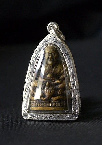 Solid Brass Phra Luang Phor Tuad Amulet