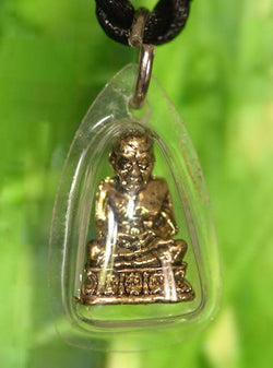 Small Waterproof Thai Phra Luang Phor Tuad Monk Amulet