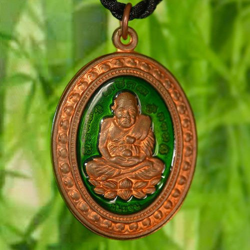Fancy Solid Copper Phra Luang Phor Tuad Amulet