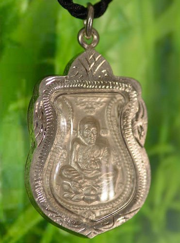 Silver Thai Phra Luang Phor Tuad Amulet Shield