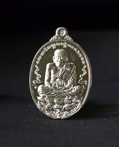 Phra Luang Phor Tuad solid silver amulet.