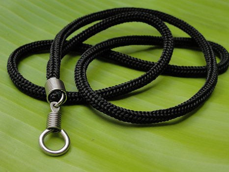 Black Braided Nylon Thai Amulet Necklace
