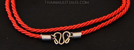 Red Spiral Amulet Necklace for Children