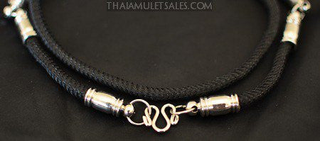 Black Fixed-Length Fancy Black Amulet Necklace